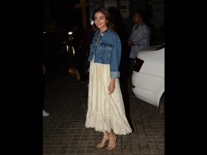 Alia Bhatt In A Summer Dress For Kalank Screening