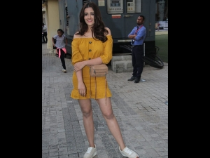 Nupur Sanon Spotted In A Mustard Dress With Kriti Sanon