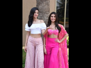 Ananya And Tara In Pink Separates For Soty 2 Promotions