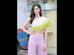 Ananya Panday In Sorbet Separates For Soty 2 Trailer Launch