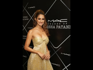 Disha Patani In A Golden Dress For The Mac Event