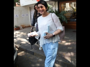 Sonali Bendre Spotted Outside A Cafe In A Casual Avatar