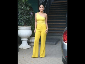 Kareena Kapoor Khan Spotted In A Yellow Outfit For The Rajeev Masand Show
