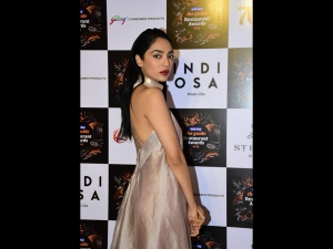 Sobhita Dhulipala In A Metallic Amit Aggarwal Gown For Mid Day Food