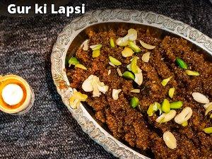 Gur Ki Lapsi Recipe: How To Make Jaggery And Broken Wheat Halwa