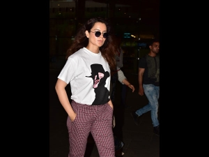Kangana Ranaut Spotted In A Simple Tee And Pants At The Airport