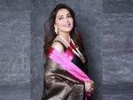 Madhuri Dixit Nene In A Raw Mango Sari For Dance Deewane
