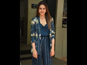 Rakulpreet Spotted In A Power Suit For De De Pyaar De Promotions