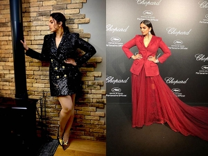 Huma Qureshi In Blazer Outfits At Cannes Film Festival