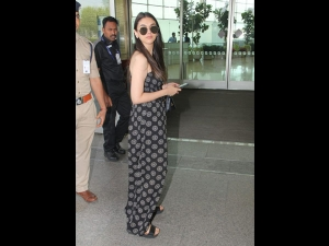 Aditi Rao Hydari Spotted In A Floral Jumpsuit At The Airport