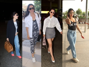 Kangana Kareena Kiara And Sonal Chauhan S Latest Airport Looks