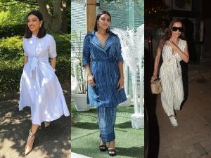 Radhika Apte Swara Bhasker Malaika Arora In Striped Outfits