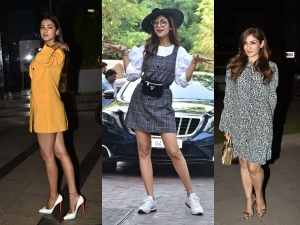 Shilpa Shetty Kundra Raveena Tandon And Sonal Chauhan Spotted