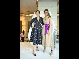 Tabu And Rakulpreet In Power Dresses For A Movie Promotion
