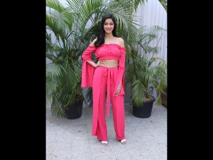Ananya Panday In Pink Separates For Soty 2 Promotions