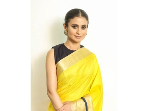 Rasika Dugal In A Raw Mango Sari For An Event
