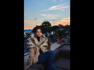 Rhea Kapoor In A Winter Outfit In France