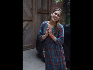 Sara Ali Khan Spotted In A Fusion Dress
