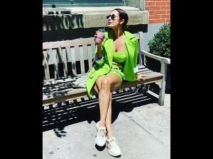 Malaika Arora In A Neon Green Attire With Arjun Kapoor