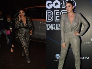 Huma Qureshi Spotted In Embellished Jumpsuits