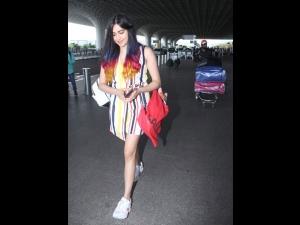 Adah Sharma S Latest Colourful Airport Look