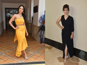 Kiara Advani And Sanya Malhotra Spotted In Dresses