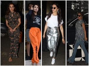 Bollywood Divas Spotted In Shimmery Floral And Quirky Outfit