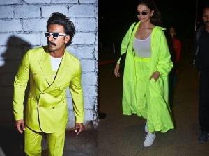 Ranveer Singh And Deepika Padukone In Neon Green Outfits