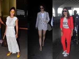 Hina Khan Kangana Ranaut And Sophie Choudry S Airport Outfit
