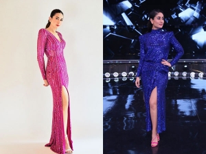 Karisma And Kareena In Glittery Bodycon Gowns