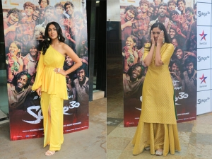 Mrunal Thakur S Yellow Outfits For Super 30 Promotions