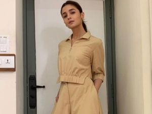 Alia Bhatt Spotted Outside The Dharma Office In Her Brown Separates