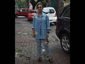 Patralekha Spotted In A Denim Outfit