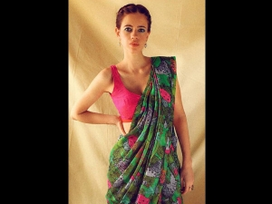 Kalki Koechlin In A Printed Masaba Sari Photoshoot