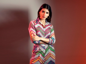 Samantha Akkineni S Photoshoot In A Multi Hued Outfit