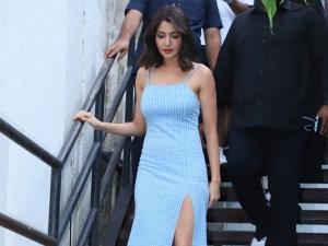 Anushka Sharma Spotted In A Blue Dress