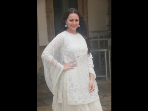 Sonakshi Sinha Woos In A White Suit For A Movie Promotion