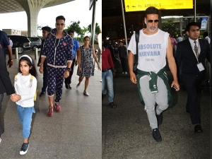 Akshay Kumar Spotted With His Family In A Cool Airport Outfit