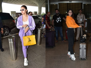 Alia Bhatt And Fatima Sana Shaikh In Sporty Airport Avatars