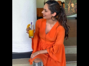 Manushi Chhillar S Photoshoot In An Orange Dress For Sri Lanka Tourism