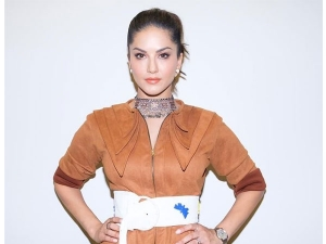 Sunny Leone In A Muted Toned Dress