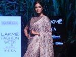 Malavika Mohanan In A Sari At The Lakme Fashion Week Winter Festive