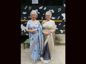 Waheeda Rehman And Asha Parekh In Saris For Dance India Dance