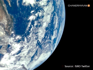 Isro Releases First Images Of Earth Captured By Chandrayaan