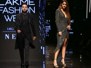 Disha Patani And Ayushmann Khurrana At The Lakme Fashion Week Winter Festive