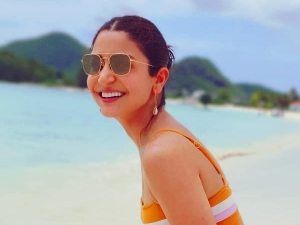 Anushka Sharma In A Chic Bikini At A Beach In West Indies