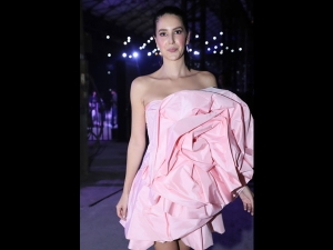 Isabelle Kaif Looks Like A Pretty Doll In A Pink Dress
