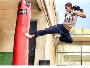Disha Patani Shares Kickboxing Workout Video