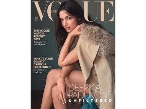 Deepika Padukone In A Brown Burberry Jacket For Vogue India Cover Shoot