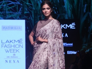 Malavika Mohanan In A Sari At The Lakme Fashion Week Winter Festive